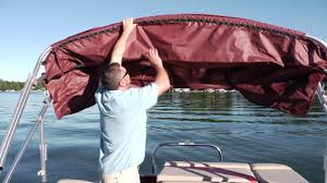 godfrey pontoons how to put up a bimini top youtube