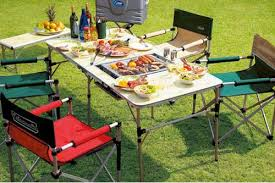 Bbq Tables Outdoor Furniture by Pit Sports Rakuten Global Market Slim 4 Folding Bbq Table