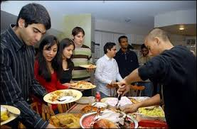 international students experience thanksgiving traditions with