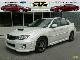 white subaru wrx 2011 subaru impreza wrx sedan in satin white pearl 514046