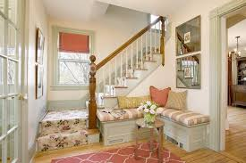 foyer bench decorating ideas entry shabby chic style with floral