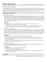 Senior Management Resume Templates Account Executive Resume Examples Free Resume Example And