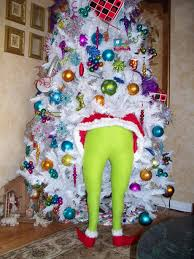 Grinch Christmas Decorations Sale Diy Grinch Holiday Decor Green Tights Pillows And Grinch