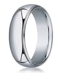 designer wedding ring for men in 10k white gold milgrain 6mm