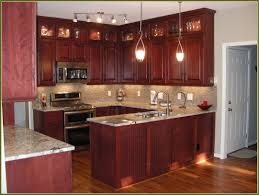 impressive cherry kitchen cabinets with grey walls 40 cherry