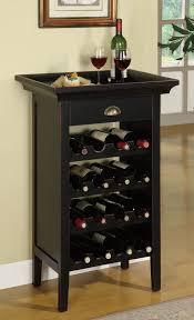 Wood Wine Cabinet Amazon Com Powell Black With Merlot Rub Through Wine Cabinet