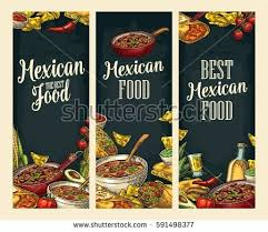 posters cuisine vertical posters traditional food ingredient stock vector