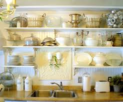 kitchen shelf decorating ideas garage wood counters with open kitchen cabinets styling open