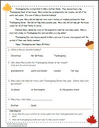 all worksheets thanksgiving comprehension worksheets free