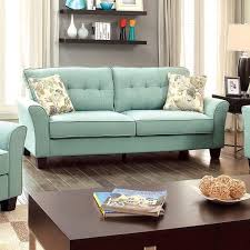 furniture of america claire transitional sofa light blue