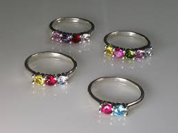 grandmothers ring s ring or grandmother s ring with 5ea 4mm lab created