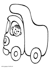 preschoolers coloring pages transportation