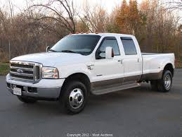 Ford F350 Diesel Trucks - west auctions auction 2006 ford f 350 king ranch truck item