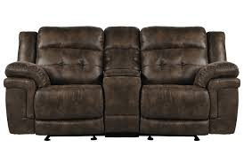 Rocking Reclining Loveseat With Console Carver Power Reclining Loveseat W Console Living Spaces