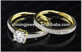 wedding ring malaysia hot selling 14k gold plated wedding diamond rings ring