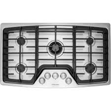 Sealed Burner Gas Cooktop Electrolux Wavetouch 36 In Gas Cooktop In Stainless Steel With 5