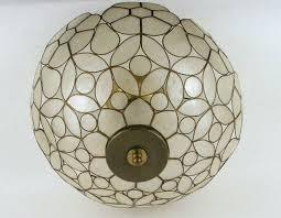 capiz flush mount light capiz shell flush mount light fixture home design ideas