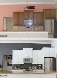 how to paint kitchen tile backsplash painted kitchen cabinets and tile backsplash a year later