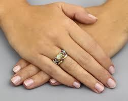 hippie wedding ring boho wedding ring etsy