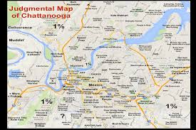 Book Map Remember The Judgmental Map Of Chattanooga Now There Are Plans