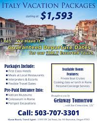 all inclusive italian vacation package getaway tomorrow