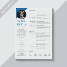 graphic designer resume template vector free download