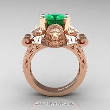 gold emerald engagement rings 14k gold 3 0 ct asscher cut emerald