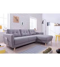 photo de canapé canapé d angle droit scandinave tissu gris stockholm canapés but