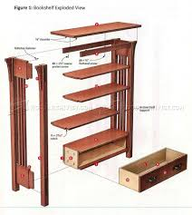Woodworking Bookshelf Plans by Arts And Crafts Bookcase Plans U2022 Woodarchivist