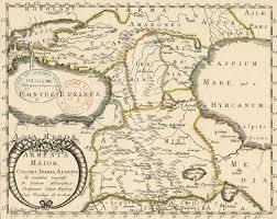Map Of Albania Map Of Armenia Major Colchis Iberia Albania 1655 Peopleofar