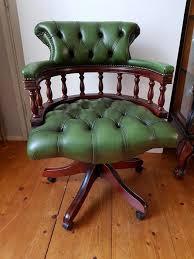 bureau chesterfield chesterfield stijl lederen bureau stoel engeland jaren 60 70