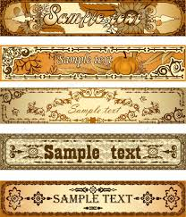 set of country style banners royalty free cliparts vectors and