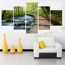 Home Decor Waterfalls by Popular Waterfall And Forest Painting Buy Cheap Waterfall And
