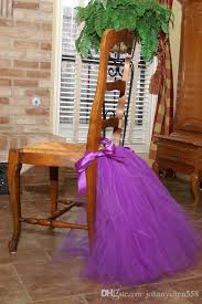 Purple Chair Sashes Purple Tutu Tulle Chair Sashes Satin Bow Made To Order Chair Skirt
