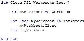 excel vba close workbook 8 ready to use macro code examples