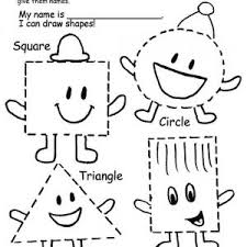 colors and shapes worksheet for primary grades kelpies