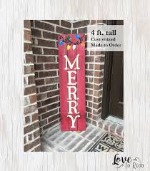 holiday sign holiday home decor rustic holiday sign wood