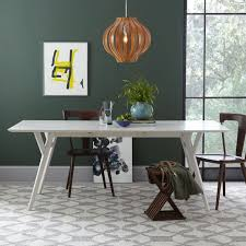 dining room tables expandable artistic mid century expandable dining table white west elm at