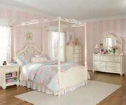 rustic white canopy bed design combining traditional and