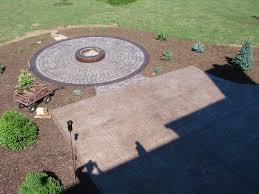 Concrete Fire Pit by Fire Pits Stamped Ohio Concrete