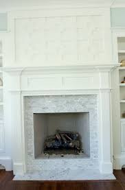 stone tile over brick fireplace home design ideas