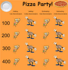 smart exchange usa adding and subtracting fractions pizza