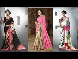latest u0026amazing designs of pure crepe silk saree new collection