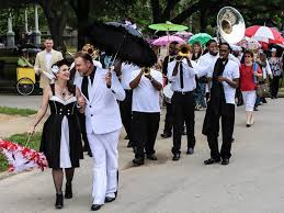 second line wedding new orleans themed wedding takes a second line heights