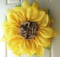 burlap sunflower wreath sunflower wreath sharsum s great finds