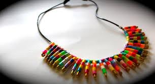 diy trendy tribal collar necklace sliding knot demo gift ideas
