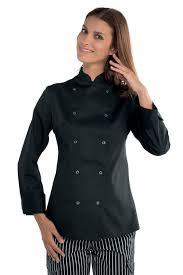 vetement cuisine veste de cuisine à boutons pression pour femme veste de
