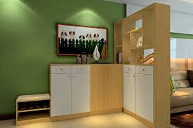 3d interior partition cabinet with green wall 3d house
