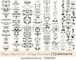 ornaments and flourishes free vector stock