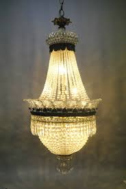 Crystal Chandelier Antique French Style Crystal Chandelier Light Fixture With Bronze